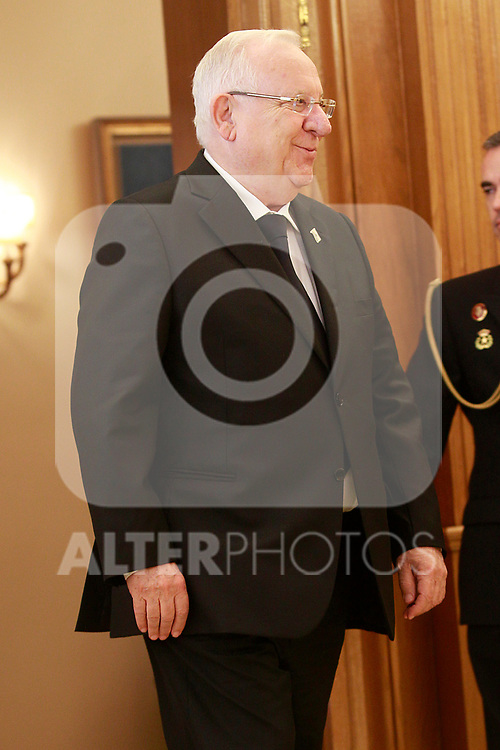 Israeli President Reuven Rivlin during official lunch at the Zarzuela Palace. November 6,2017. (ALTERPHOTOS/Acero)