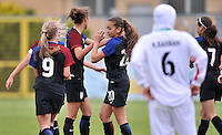 Monfalcone, Italy, April 26, 2016.<br /> USA's players celebrating #20 Yates's goal during USA v Iran football match at Gradisca Tournament of Nations (women's tournament). Monfalcone's stadium.<br /> &copy; ph Simone Ferraro / Isiphotos