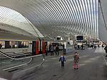 Liège (Liege) - Belgium, January 29, 2017; <br /> Liège-Guillemins railway station, designed by Spanish/Swiss architect Santiago Calatrava; central train station<br /> Photo: © HorstWagner.eu