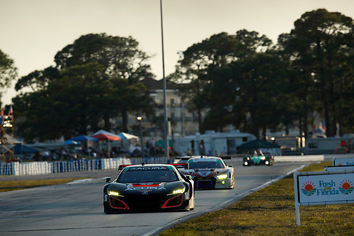 2017 IMSA WeatherTech SportsCar Championship<br /> Mobil 1 Twelve Hours of Sebring<br /> Sebring International Raceway, Sebring, FL USA<br /> Saturday 18 March 2017<br /> 86, Acura, Acura NSX, GTD, Oswaldo Negri Jr., Tom Dyer, Jeff Segal<br /> World Copyright: Michael L. Levitt/LAT Images<br /> ref: Digital Image levitt_seb_0317-26725