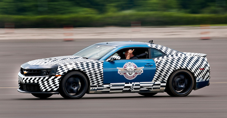 NASCAR Team Chevrolet driver Ryan Newman - who has an Engineering degree from Purdue University - test drives a Chevy Camaro ZL1 development vehicle during a tour of the engineering and vehicle development areas of the General Motors Milford Proving Ground Thursday, June 16, 2011 in Milford, Michigan. Newman spent the afternoon talking to engineers at the facility. Newman hopes to win his third NASCAR Sprint Cup race at Michigan International Speedway in Brooklyn, Michigan on Sunday in his U.S. Army/Bud Moore Chevy for Stewart-Haas Racing. (Photo by Steve Fecht for Chevrolet Racing)