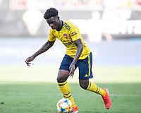 CHARLOTTE, NC - JULY 20: James Olayinka #52 during a game between ACF Fiorentina and Arsenal at Bank of America Stadium on July 20, 2019 in Charlotte, North Carolina.