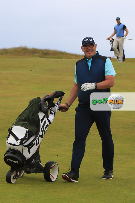 Gary Cullen (The Links Portmarnock) on the 17th during Round 2 of the North of Ireland Amateur Open Championship 2019 at Portstewart Golf Club, Portstewart, Co. Antrim on Tuesday 9th July 2019.<br /> Picture:  Thos Caffrey / Golffile<br /> <br /> All photos usage must carry mandatory copyright credit (© Golffile   Thos Caffrey)