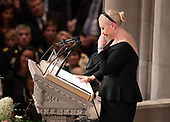 Meghan McCain speaks at the funeral service for the late United States Senator John S. McCain, III (Republican of Arizona) at the Washington National Cathedral in Washington, DC on Saturday, September 1, 2018.<br /> Credit: Ron Sachs / CNP<br /> <br /> (RESTRICTION: NO New York or New Jersey Newspapers or newspapers within a 75 mile radius of New York City)