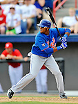 10 March 2012: New York Mets infielder Jordany Valdespin in action during a Spring Training game against the Washington Nationals at Space Coast Stadium in Viera, Florida. The Nationals defeated the Mets 8-2 in Grapefruit League play. Mandatory Credit: Ed Wolfstein Photo