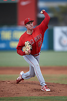 Starting pitcher Daniel Nunan (68), of the AZL Angels, during an Arizona League game against the AZL Padres 1 on August 5, 2019 at Tempe Diablo Stadium in Tempe, Arizona. AZL Padres 1 defeated the AZL Angels 5-0. (Zachary Lucy/Four Seam Images)