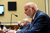 Robert Redfield, director of the Centers for Disease Control and Prevention (CDC), speaks during a House Select Subcommittee on the Coronavirus Crisis hearing in Washington, D.C., U.S., on Friday, July 31, 2020. Trump administration officials are set to defend the federal government's response to the coronavirus crisis at the hearing hosted by a House panel calling for a national plan to contain the virus. <br /> Credit: Erin Scott / Pool via CNP /MediaPunch