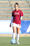 02 November 2012: Florida State's Carson Pickett. The Florida State University Seminoles played the University of Virginia Cavaliers at WakeMed Stadium in Cary, North Carolina in a 2012 NCAA Division I Women's Soccer and Atlantic Coast Conference Tournament semifinal game. Virginia won the game 4-2.