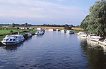AMHK74 Boats Ludham bridge Norfolk Broads England