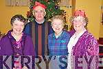 Pictured at the Beaufort Community Care Christmas Party in the Community Centre on Sunday were Anne Jordan, Jerry O'Connor, Maisie Foley and Barbara McDonald.