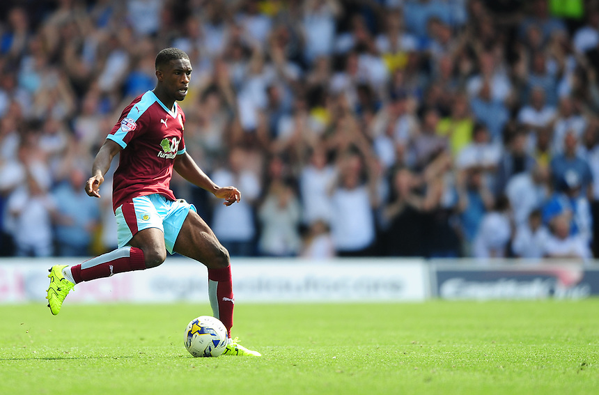 Burnley's Tendayi Darikwa<br /> <br /> Photographer Chris Vaughan/CameraSport<br /> <br /> Football - The Football League Sky Bet Championship - Leeds United  v Burnley - Saturday 8th August 2015 - Elland Road - Beeston - Leeds<br /> <br /> &copy; CameraSport - 43 Linden Ave. Countesthorpe. Leicester. England. LE8 5PG - Tel: +44 (0) 116 277 4147 - admin@camerasport.com - www.camerasport.com