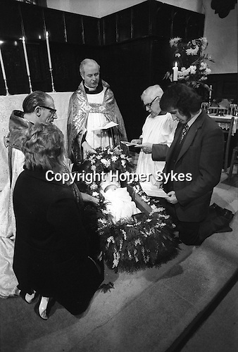 Blidworth, Nottinghamshire Rocking Ceremony, held at St Mary of the Purification in Blidworth, Nottinghamshire. 1970s.<br />
