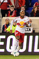 Thierry Henry (14) of the New York Red Bulls. The New York Red Bulls defeated the Chicago Fire 5-2 during a Major League Soccer (MLS) match at Red Bull Arena in Harrison, NJ, on October 27, 2013.