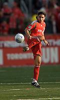 26 April 2009: Toronto FC forward Pablo Vitti #8 in action during an MLS game between Kansas City Wizards and Toronto FC.Toronto FC won 1-0. .
