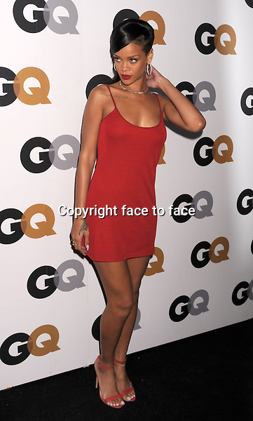 Rihanna (wearing a Calvin Klein dress) arrives at the GQ Men Of The Year Party at Chateau Marmont Hotel on November 13, 2012 in Los Angeles, California. ..Credit: Mayer/face to face..- No Rights for USA and Canada -