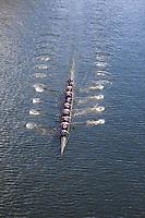 University of Washington Eight Man Rowing Team Breaks 20-year Course Record in Time of 5:30.00 Minutes, Windermere Cup 2017, Mountlake Cut, Lake Washington, Seattle, WA, USA.