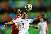2nd November 2019; Kleber Andrade Stadium, Cariacica, Espirito Santo, Brazil; FIFA U-17 World Cup Brazil 2019, Chile versus Korea Republic; Gonzalo Tapia of Chile and Yoon Sukju of Korea Republic