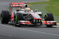 MELBOURNE, 16 March - Lewis Hamilton of the Vodafone McLaren Mercedes Team during free practise session one of the the 2012 Formula One Australian Grand Prix at the Albert Park Circuit in Melbourne, Australia. (Photo Sydney Low / syd-low.com)