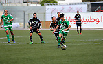 Shabab Hebron players and Ozlan south (Zahryah) players compete during the final match of the Palestinian Cup (Abu Ammar Cup), in the West Bank city of Hebron, on October 15, 2016. Photo by Wisam Hashlamoun