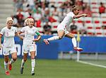 09.06.2019 England v Scotland Women: Nikita Parris celebrates her opening goal from the penalty spot