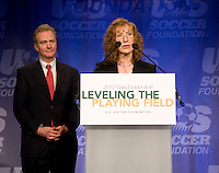Maureen Hendricks, Chris Van Hollen.  The 2010 US Soccer Foundation Gala was held at City Center in Washington, DC.