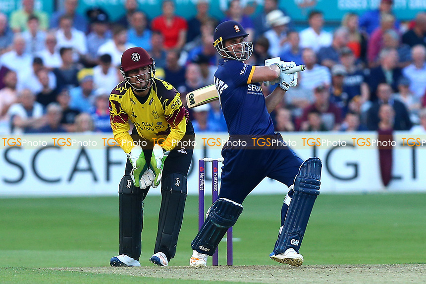 Ryan ten Doeschate of Essex in batting action as Steven Davies looks on from behind the stumps during Essex Eagles vs Somerset, NatWest T20 Blast Cricket at The Cloudfm County Ground on 13th July 2017