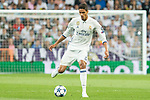 Raphael Varane of Real Madrid  during the match of Champions League between Real Madrid and Atletico de Madrid at Santiago Bernabeu Stadium  in Madrid, Spain. May 02, 2017. (ALTERPHOTOS/Rodrigo Jimenez)