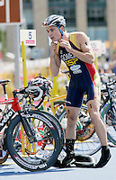 29 JUL 2007 - SALFORD, UK - Javier Gomez - Salford ITU World Cup Triathlon. (PHOTO (C) NIGEL FARROW)