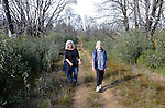 Women hiking in Bonny Doon Ecological Reserve