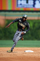 Thomas Jones (15) of Laurens District 55 High School in Laurens, South Carolina during the Under Armour All-American Game on August 15, 2015 at Wrigley Field in Chicago, Illinois. (Mike Janes/Four Seam Images)