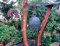 Bell and fuschias, Volunteer Park Conservatory, Seattle, Washignton.