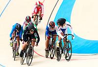 Picture by Alex Whitehead/SWpix.com - 10/12/2017 - Cycling - UCI Track Cycling World Cup Santiago - Velódromo de Peñalolén, Santiago, Chile - New Zealand's Natasha Hansen wins in the Women's Keirin first round.