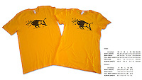 Our most popular t-shirt, featuring a Yellowstone bison tossing a tourist in the air.  This is the same design that has been used on safety fliers in the park for decades.  The image is used legally and with permission.<br />
