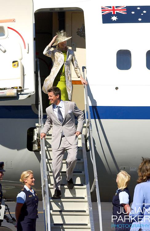 Crown Prince Frederik & Crown Princess Mary of Denmark visit Australia..Arriving at Hobart Airport in Tasmania..