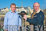 Locals in Ballyheigue are calling for CCTV to be installed in the  local playground following a deliberate act of vandalism to equipment in the playground by local youths. .Pictured Jim  and Cllr John Brassil who raised the issue at the recent Listowel Area Meeting.