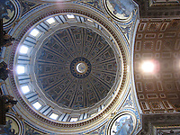 Looking up inside the dome of St. Peter's, The Vatican