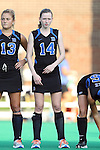 19 September 2014: Duke's Robin Blazing. The Duke University Blue Devils hosted the University of Virginia Cavaliers at Jack Katz Stadium in Durham, North Carolina in a 2014 NCAA Division I Field Hockey match. Virginia won the game 2-1.