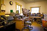 Old railroad office exhibit at Talkeetna Historical Society's Museum, Talkeetna, Southcentral Alaska, Summer.