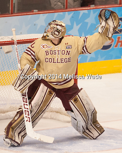 Thatcher Demko (BC - 30) - The Union College Dutchmen defeated the Boston College Eagles 4-3 on Thursday, April 10, 2014, in their 2014 Frozen Four semi-final at the Wells Fargo Center in Philadelphia, Pennsylvania.