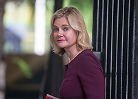 Education Secretary Justine Greening leaves the cabinet meeting at 10 Downing street