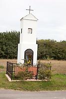 Polish ubiquitous wayside religious shrine. Zawady Central Poland