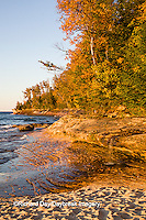 64745-00110 Miners Beach in fall at sunset Pictured Rocks National Lakeshore near Munising MI