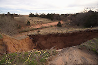 Ravine Washout Along Old US Route 66, N 2600 Road, near Bridgeport Oklahoma