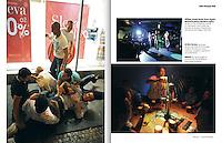 LONG COURS<br /> (France)<br /> <br /> William, Arnold, Roald, Sietse, Angelo, Michael (le fiance), Ronald et Jeffrey (de haut en bas et de gauche a droite) se &quot;regroupement&quot; pour verifer que personne ne manque a l'appel apres une viree au Hot Peppers strip club; Au Beer Factory, un groupe de Neo-Zelandais fete le mariage de Blair Skadden (au centre), au revetu du &quot;mankini&quot;, popularise par le film Borat; William (au centre) souffle sur la mousse de &quot;l'or de Boheme&quot; pour amuse la galerie.<br /> <br /> &quot;Very Prague Trip,&quot; p. 92-93<br /> Summer 2013.