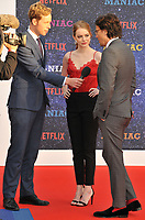 Martin Stew, Emma Stone and Cary Fukunaga at the &quot;Maniac&quot; UK TV premiere, Southbank Centre, Belvedere Road, London, England, UK, on Thursday 13 September 2018.<br /> CAP/CAN<br /> &copy;CAN/Capital Pictures