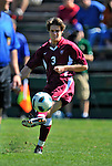 18 September 2011: Harvard University Crimson Midfielder Scott Prozeller, a Junior from Sudbury, MA, in action against the University of Vermont Catamounts at Centennial Field in Burlington, Vermont. The Catamounts shut out the visiting Crimson 1-0, earning their 3rd straight victory of the 2011 season. Mandatory Credit: Ed Wolfstein Photo