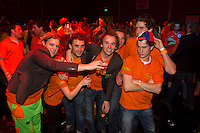 10-02-12, Netherlands,Tennis, Den Bosch, Daviscup Netherlands-Finland, Orange fans