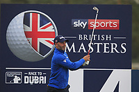Paul Waring (ENG) on the 14th tee during Round 1of the Sky Sports British Masters at Walton Heath Golf Club in Tadworth, Surrey, England on Thursday 11th Oct 2018.<br /> Picture:  Thos Caffrey | Golffile<br /> <br /> All photo usage must carry mandatory copyright credit (© Golffile | Thos Caffrey)