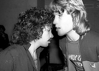 1977 FILE PHOTO<br /> New York City<br /> John Oates Andy Gibb at Studio 54<br /> Photo by Adam Scull-PHOTOlink.net