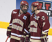 Brett Motherwell, Peter Harrold - The University of Wisconsin Badgers defeated the Boston College Eagles 2-1 on Saturday, April 8, 2006, at the Bradley Center in Milwaukee, Wisconsin in the 2006 Frozen Four Final to take the national Title.